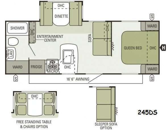Floorplan - 2014 Starcraft  Autumn Ridge 245DS
