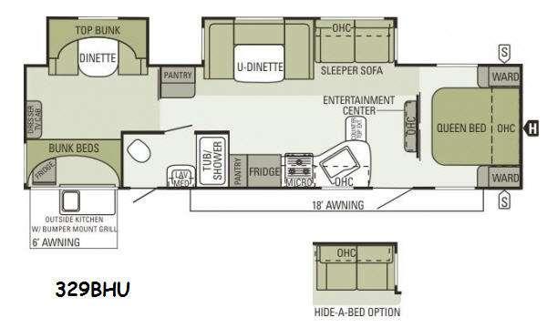 Floorplan - 2014 Starcraft  Autumn Ridge 329BHU