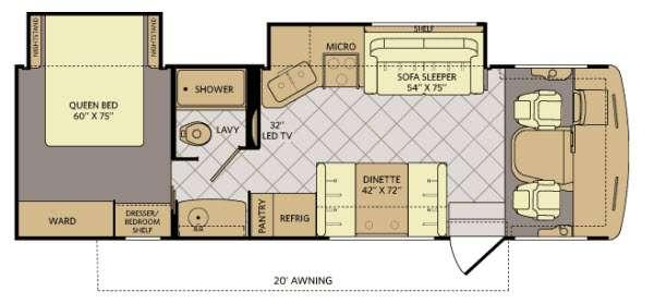 Floorplan - 2014 Fleetwood RV Bounder Classic 30T