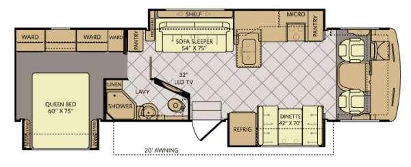 Floorplan - 2014 Fleetwood RV Bounder Classic 34M
