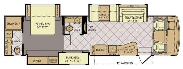Floorplan - 2014 Fleetwood RV Bounder Classic 36H
