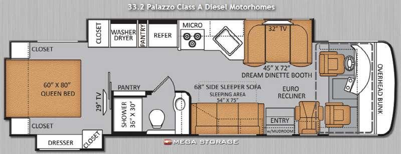 Floorplan - 2014 Thor Motor Coach Palazzo 33 2