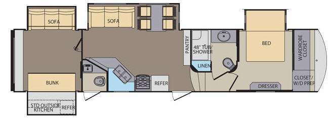 Floorplan - 2014 Shasta RVs Phoenix 35BH