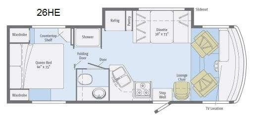Floorplan - 2014 Winnebago Vista 26HE