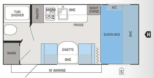 Floorplan - 2014 Jayco Jay Flight Swift SLX 185RB