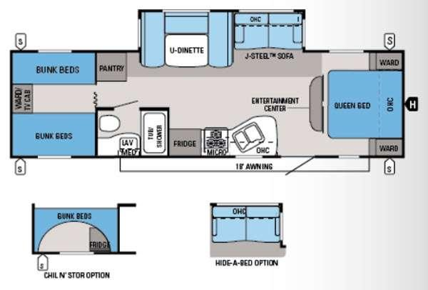Floorplan - 2014 Jayco Jay Flight 29QBH