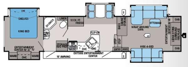 Floorplan - 2014 Jayco Pinnacle 38FLFS