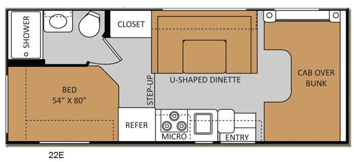 Floorplan - 2014 Thor Motor Coach Chateau 22E