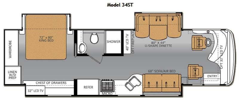 Floorplan - 2014 Thor Motor Coach Tuscany XTE 34ST