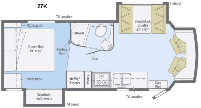 Floorplan - 2014 Winnebago Aspect 27K