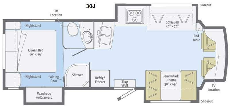 Floorplan - 2014 Winnebago Aspect 30J