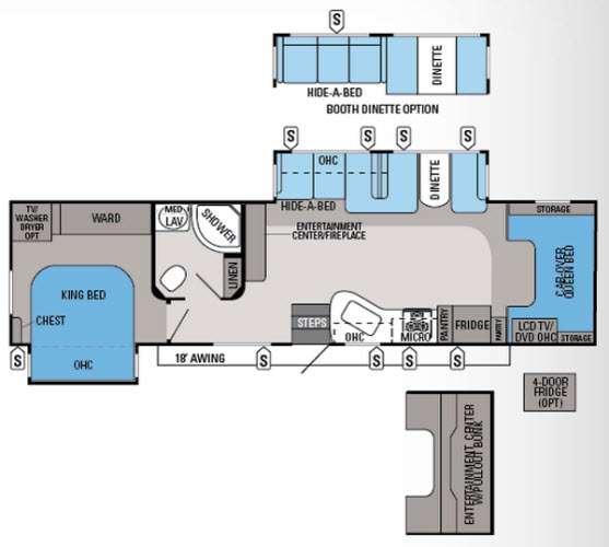Floorplan - 2014 Jayco Seneca 36FK