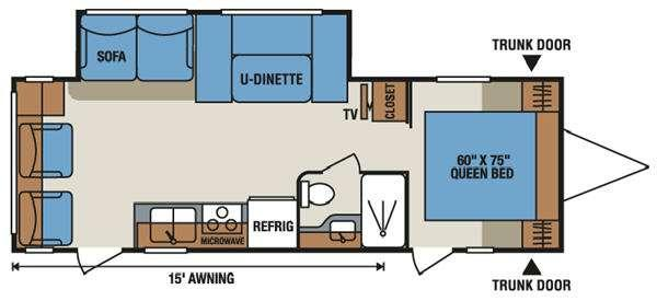 Floorplan - 2014 Sportsmen S280RL Travel Trailer