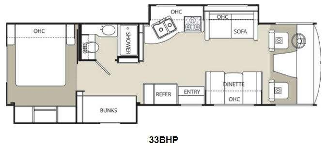 Floorplan - 2014 Coachmen RV Pursuit 33 BHP
