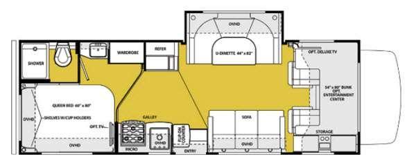 Floorplan - 2014 Forest River RV Sunseeker 2690S Ford