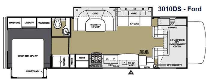 Floorplan - 2014 Forest River RV Sunseeker 3010DS Ford