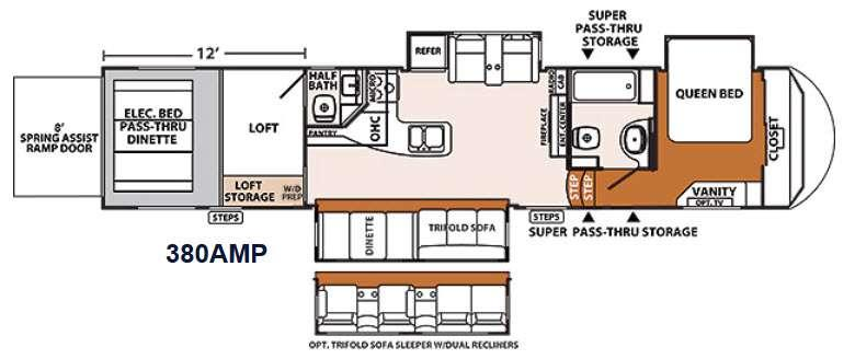 Floorplan - 2014 Forest River RV XLR Thunderbolt 380AMP