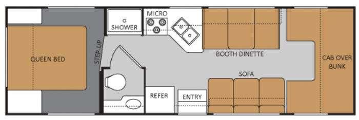 Floorplan - 2014 Thor Motor Coach Four Winds 28A