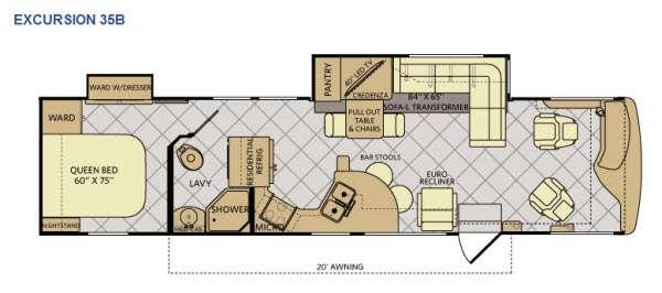 Floorplan - 2014 Fleetwood RV Excursion 35B