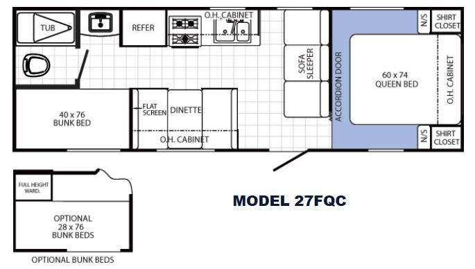 Floorplan - 2014 Palomino Canyon Cat 27FQC