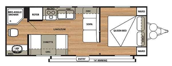 Salem Cruise Lite 241QBXL Floorplan Image