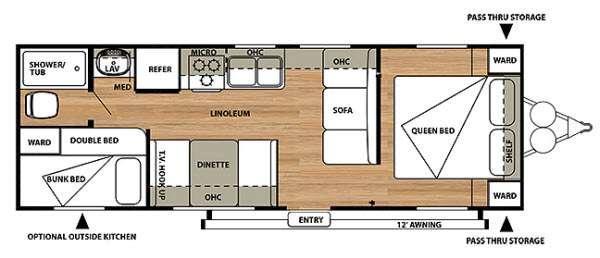 Salem Cruise Lite 261BHXL Floorplan Image