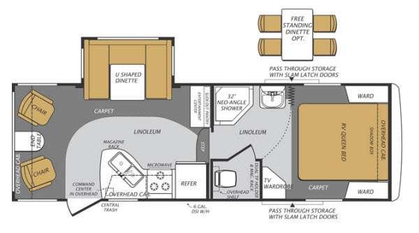 Floorplan - 2014 Forest River RV Wildcat Maxx 241RLX