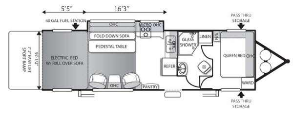 Floorplan - 2014 Forest River RV Shockwave T27SADX