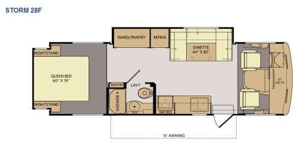 Floorplan - 2014 Fleetwood RV Storm 28F