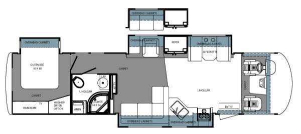 Floorplan - 2014 Forest River RV Georgetown XL 377TSF