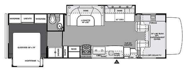 Floorplan - 2014 Forest River RV Forester 3011DS Ford