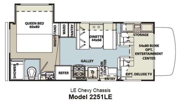 Floorplan - 2014 Forest River RV Forester LE 2251LE Chevy