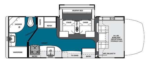 Floorplan - 2014 Solera 24MS Motor Home Class C - Diesel