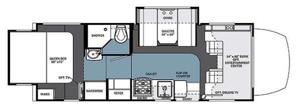 Floorplan - 2014 Forest River RV Solera 24R