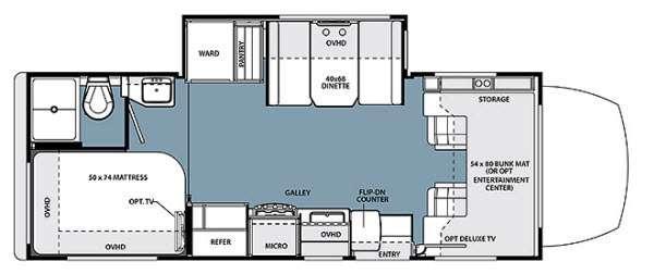Floorplan - 2014 Forest River RV Solera 24S