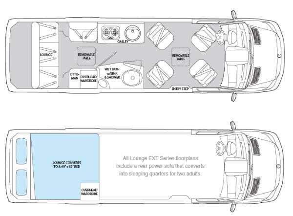 Floorplan - 2014 Airstream RV Interstate Interstate Ext Lounge