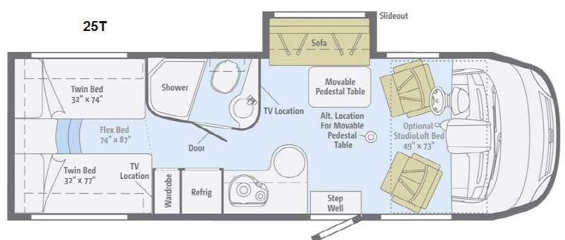 Floorplan - 2014 Itasca Reyo 25T