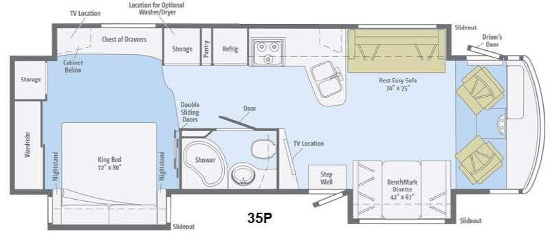 Floorplan - 2014 Itasca Suncruiser 35P
