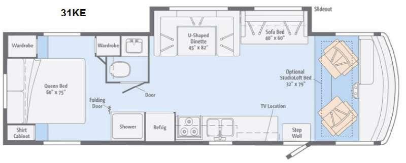 Floorplan - 2014 Itasca Sunstar 31KE