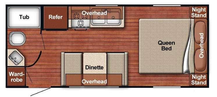 Floorplan - 2014 Gulf Stream RV Ameri-Lite 21MB