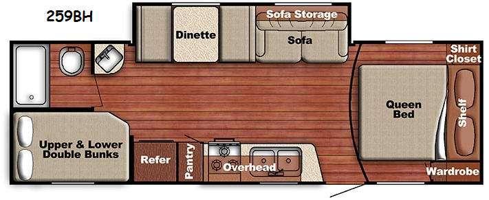 Floorplan - 2014 Gulf Stream RV Ameri-Lite 259BH
