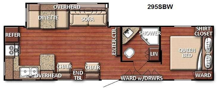 Floorplan - 2014 Gulf Stream RV Conquest 295SBW