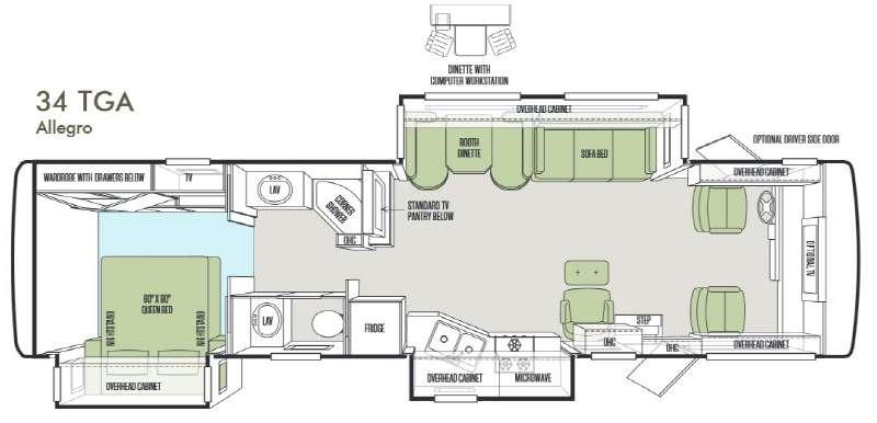 Floorplan - 2014 Tiffin Motorhomes Allegro 34 TGA
