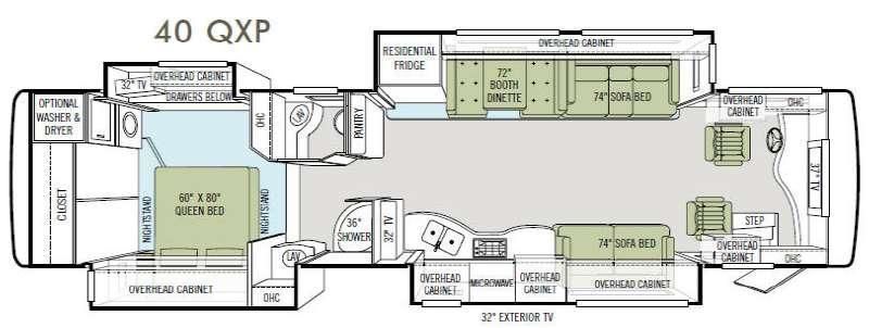 Floorplan - 2014 Allegro Bus 40 QXP Motor Home Class A - Diesel