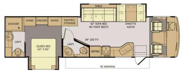Floorplan - 2014 Fleetwood RV Terra 35K