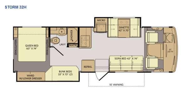 Floorplan - 2014 Fleetwood RV Storm 32H