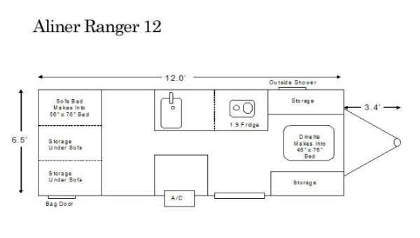 Floorplan - 2014 ALiner Ranger 12 Ranger 12