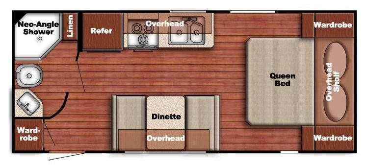 Floorplan - 2014 Gulf Stream RV Ameri-Lite 218MB