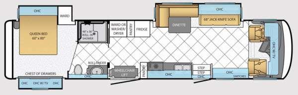 Floorplan - 2014 Newmar Canyon Star 3911