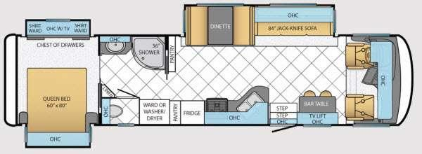 Floorplan - 2014 Canyon Star 3630 Motor Home Class A